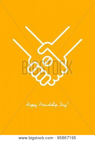 Happy Friendship day background with handshake. Best Friends Forever