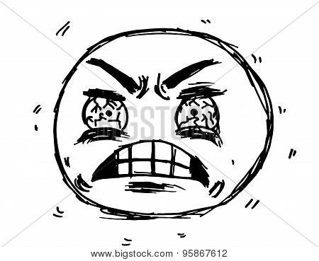 Frustrated Face Meme Illustration Vector