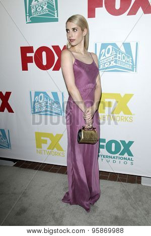 SAN DIEGO - JUL 10:  Emma Roberts at the 20th Century Fox Party Comic-Con Party at the Andaz Hotel on July 10, 2015 in San Diego, CA