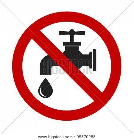 tap faucet stop drop sign - design element