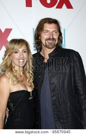 SAN DIEGO - JUL 10:  Robin Atkin Downes, Michael Ann Young at the 20th Century Fox Party Comic-Con Party at the Andaz Hotel on July 10, 2015 in San Diego, CA