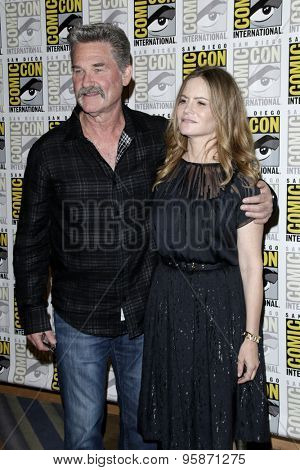 SAN DIEGO - JUL 11:  Kurt Russell, Jennifer Jason Leigh at the