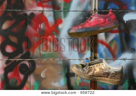Two Graffiti Shoes