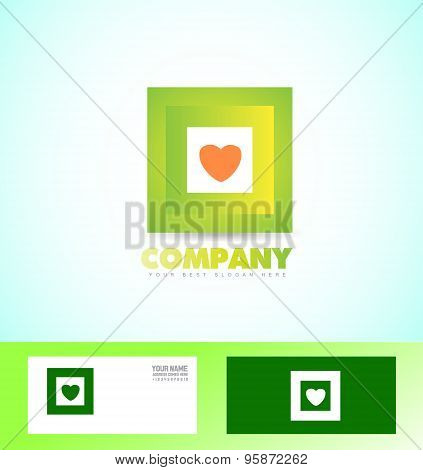 Green Square Logo Icon Business