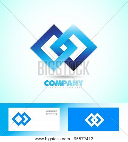 Loop Seamless Square Rhombus Logo