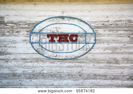 THC branded shed