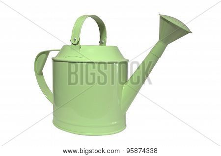 watering can, pot on white background