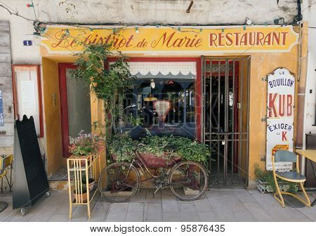 French Bistro Restaurant In Paris France