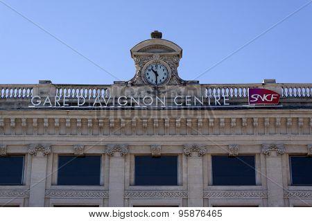 Railway Station In Avignon France