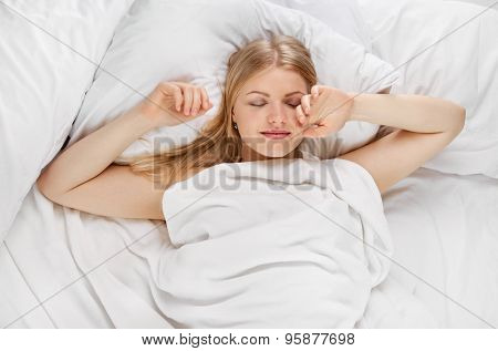 sleeping Woman in bed