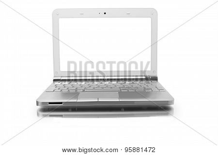 Laptop With White Monitor