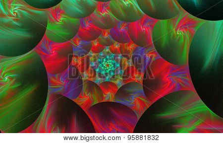 Background With A Spiral Fractal Bright Flower