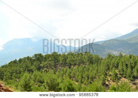 Mountains Near The Town Of Alanya In Turkey In July 2015