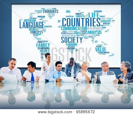 Countries Cartography Global Communication National Concept