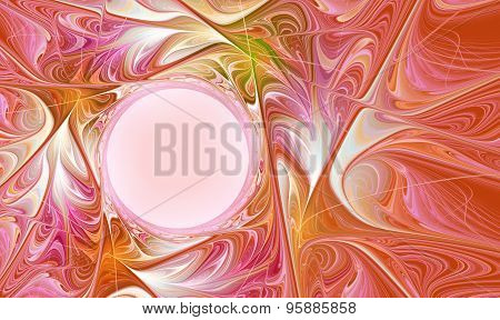 Fractal  Abstract Autumn Bright With Copy Space