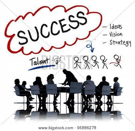 Success Talent Vision Strategy Goals Concept