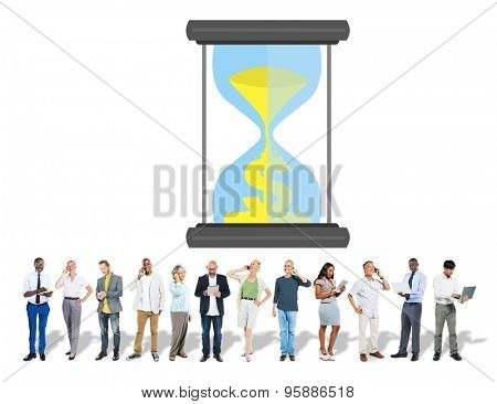 Time Sand Glass Hour Glass Finance Saving Concept