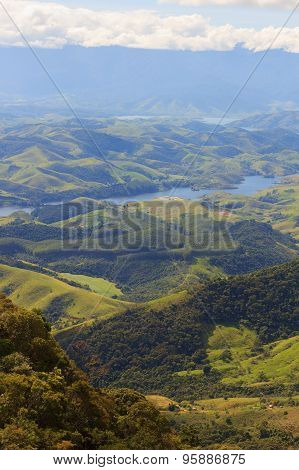 Landscape With Hills And River Of  National Park, Brazil