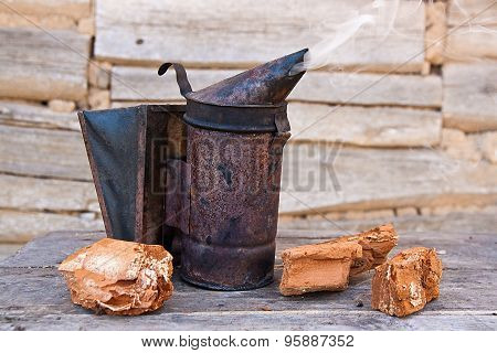 Old Smoker At Beehive
