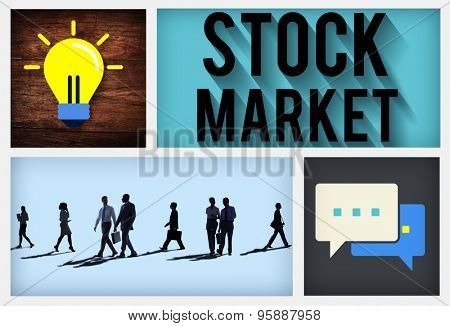 Stock Market Risk Shareholder Finance Concept