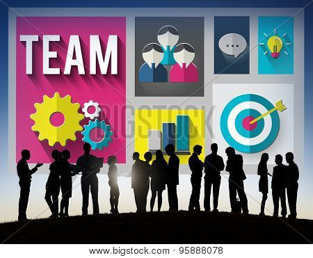 Team Teamwork Collaboration Cooperation Support Concept