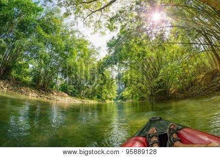 Safari Canoeing on Kao Sok River, Thailand