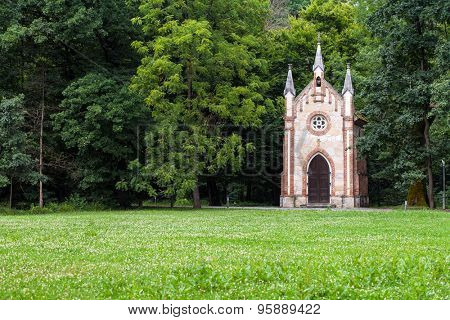Catholic chapel in a forest