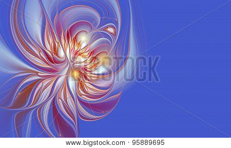 Illustration Background L Flower With Copy Space