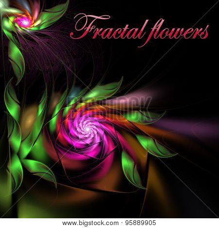 Illustration  Background Bright Satin Flowers With Copy Space