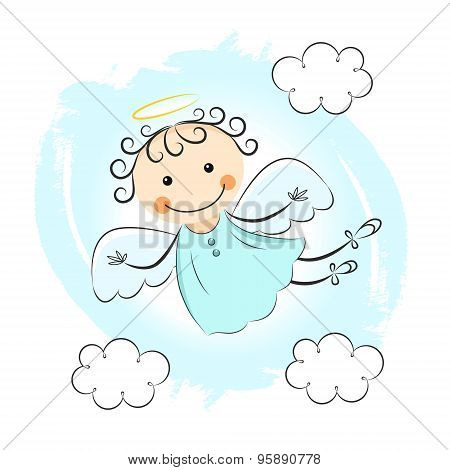 Little Angel With Clouds