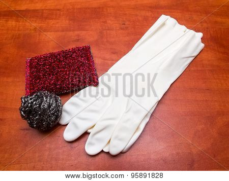 Kitchen Sponges And Gloves