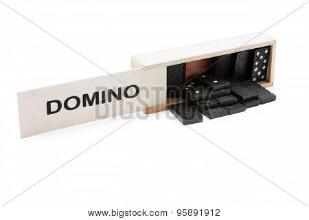 Domino Into The Wooden Box