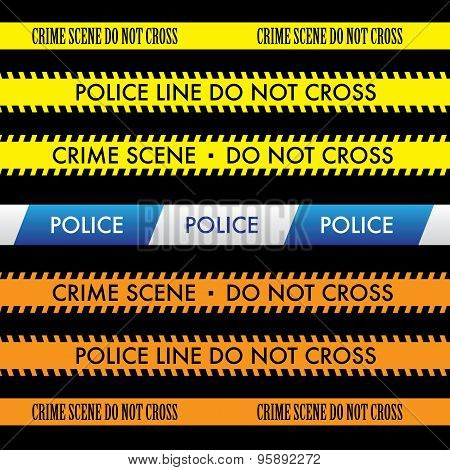 Police Line Do Not Cross Tape Vector Design