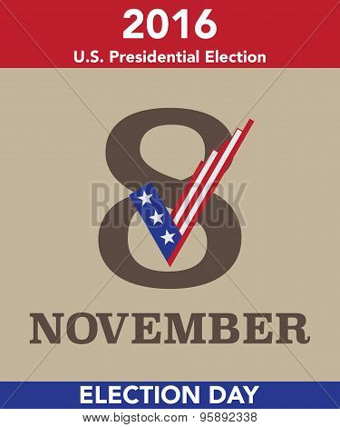 2016 Us Election Day Vector Concept