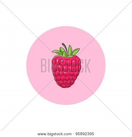 Icon Colorful Raspberries