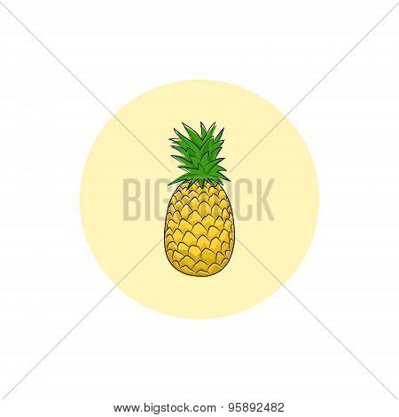 Icon Colorful Pineapple