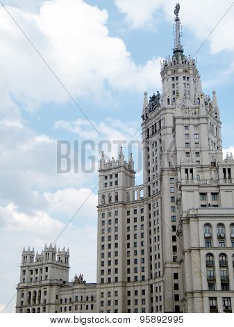 Moscow The Highrise Building On Kotelnicheskaya Quay 2011