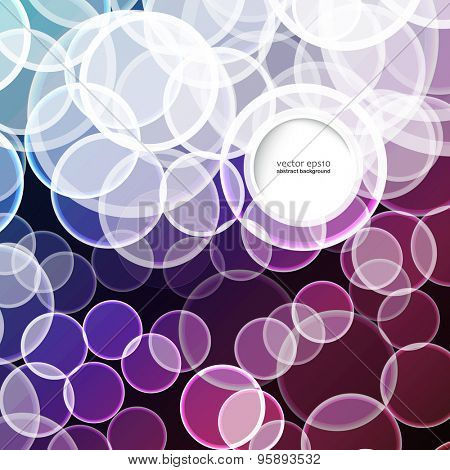Abstract blur circles vector background