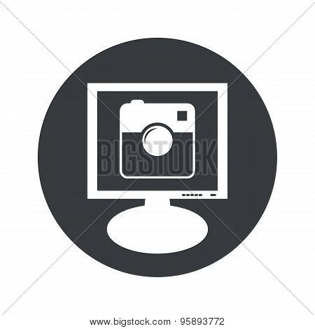 Round square camera monitor icon