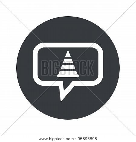Round traffic cone dialog icon