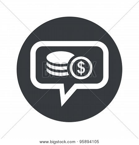 Round dollar rouleau dialog icon