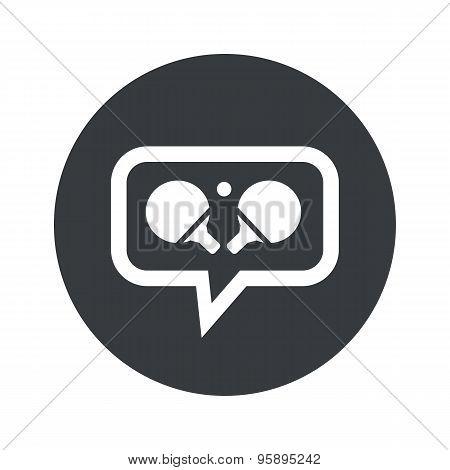 Round table tennis dialog icon