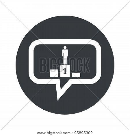 Round pedestal dialog icon