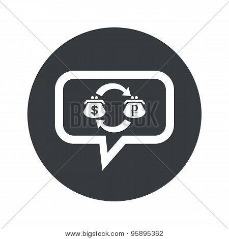 Round dollar ruble dialog icon
