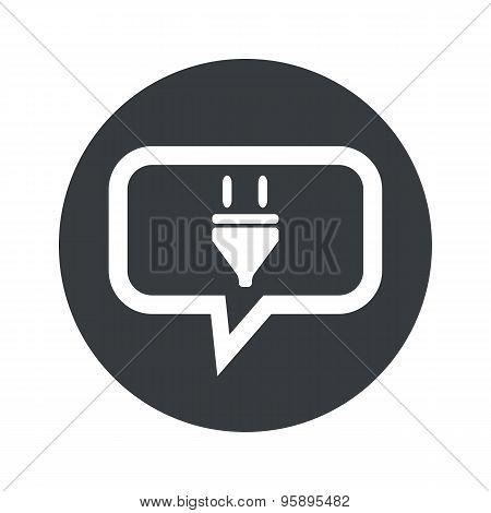 Round plug dialog icon