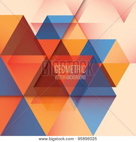 Abstract geometric background, modern triangular design