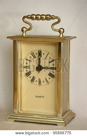 Table Clock, Showing Three O'clock.