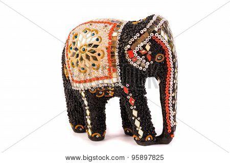 Wooden Elephant Figurine