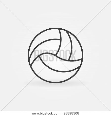 Volleyball icon or logo
