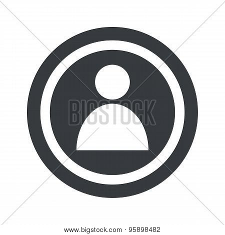 Round black user sign
